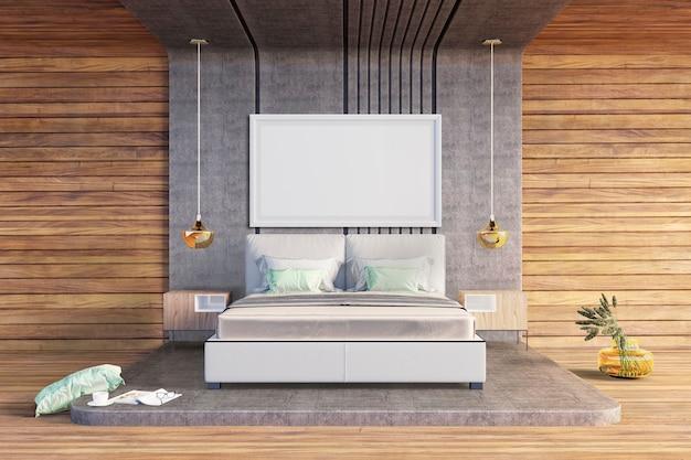 ラフスタイルのベッドルーム Premium Psd