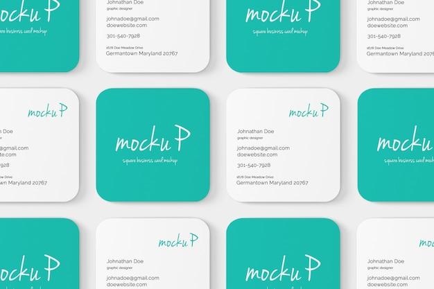 Round corner square business card mockup Premium Psd