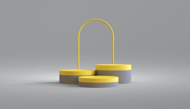 Круглый подиум для презентации продукции цветом года Premium Psd