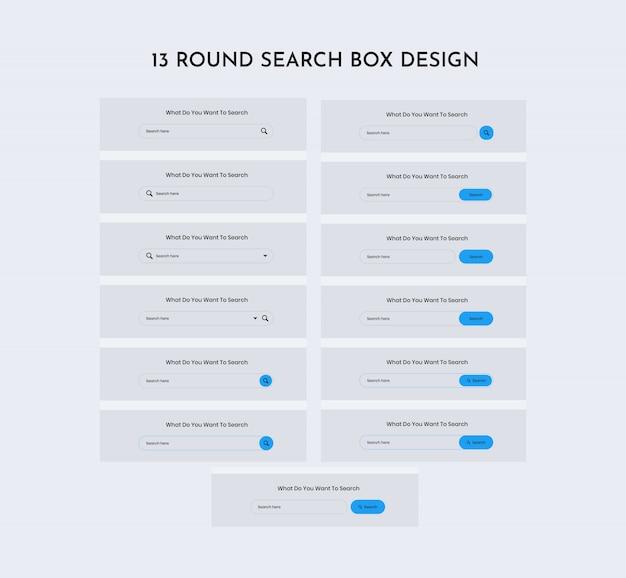 Round search web ui kit Premium Psd