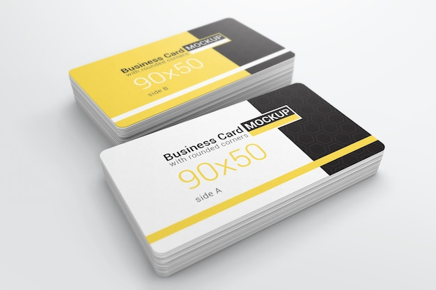 Rounded corner business card mockup psd file premium download rounded corner business card mockup premium psd reheart Image collections