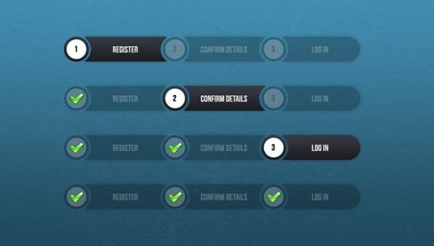 Rounded progress bar   Free PSD File