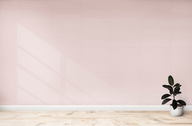 Rubber fig in a pink room Free Psd
