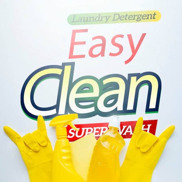 Rubber gloves showing rock sign Free Psd