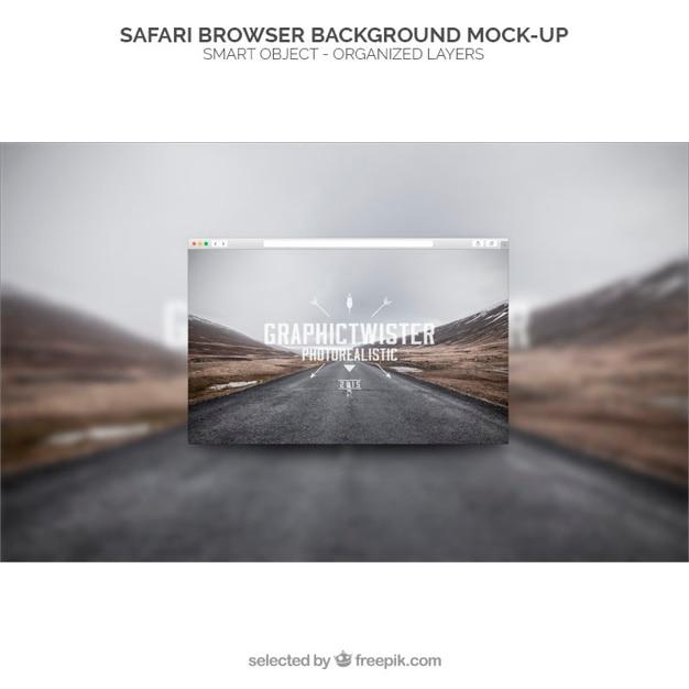 Safari browser background mockup Free Psd
