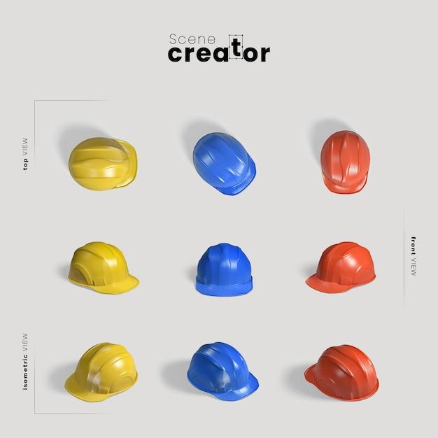 Safety helmet scene creator Premium Psd