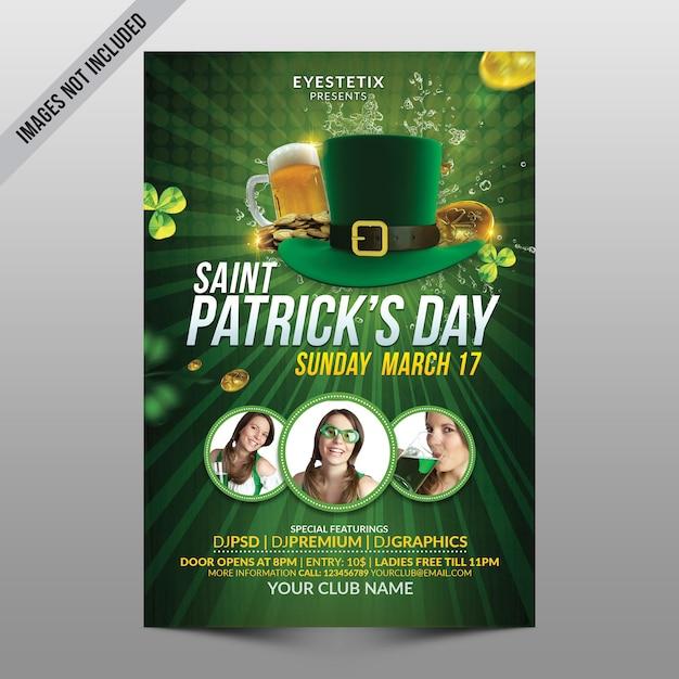 Saint patrick's day flyer Premium Psd