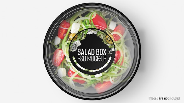 Salad box with layer Premium Psd