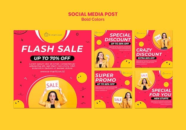 판매 광고 소셜 미디어 게시물 템플릿 무료 PSD 파일