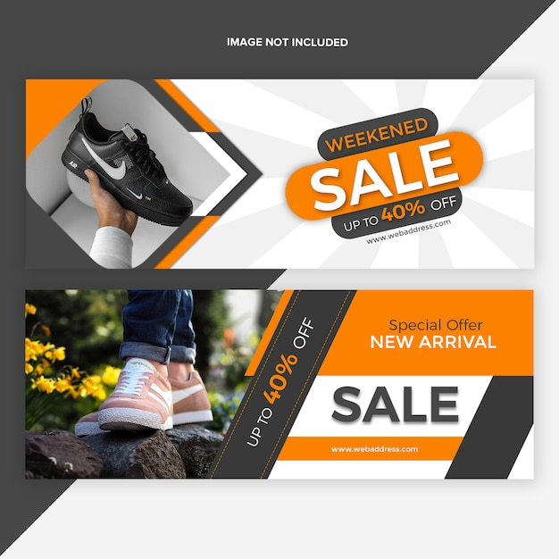 Sale facebook timeline cover banner design template Premium Psd