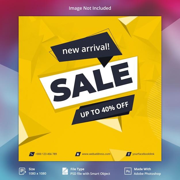 Sale offer social media banner Premium Psd