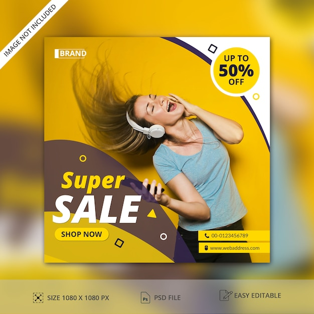 Sale Post Banner Template