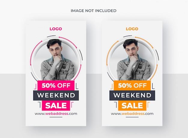 Sale social media or instagram story template Premium Psd