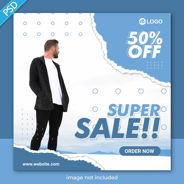 Sale social media post or banner template Premium Psd