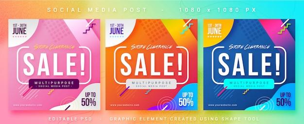 Sale social media post banner Premium Psd