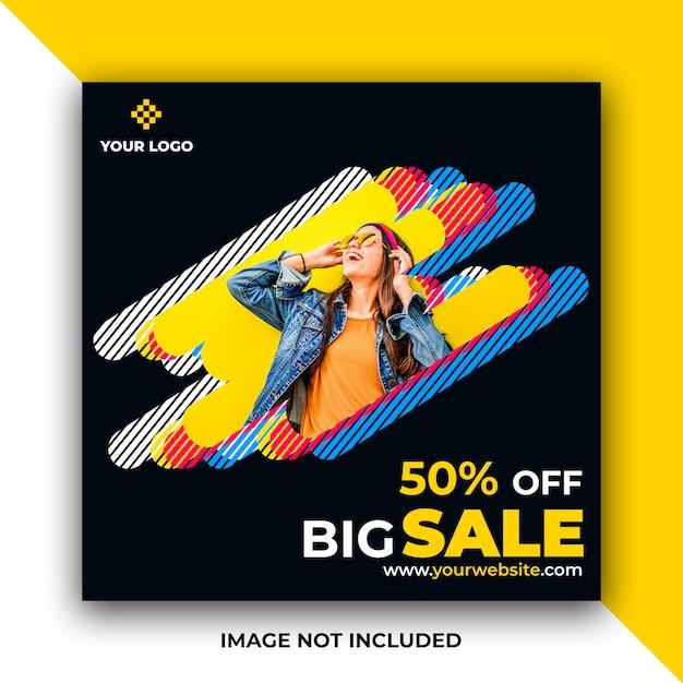 Sale web social media post banner Premium Psd