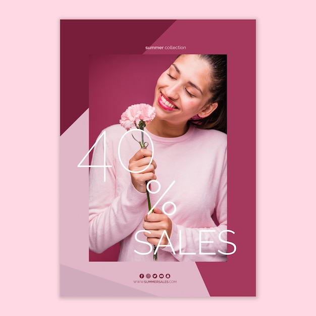 Sales poster template Free Psd