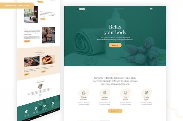Salon website page design Premium Psd