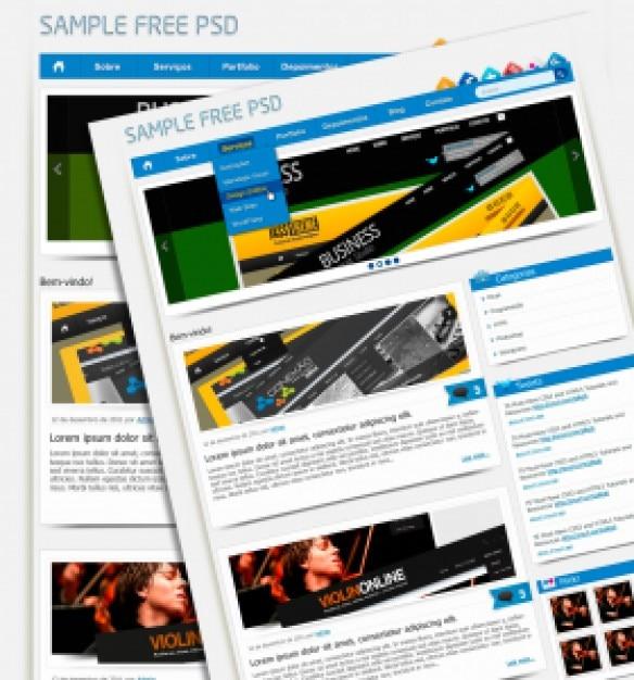 Sample Psd Business Templates PSD File