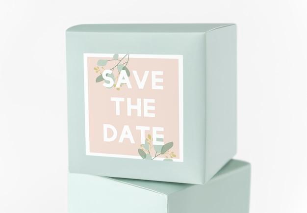 Save the date box Premium Psd