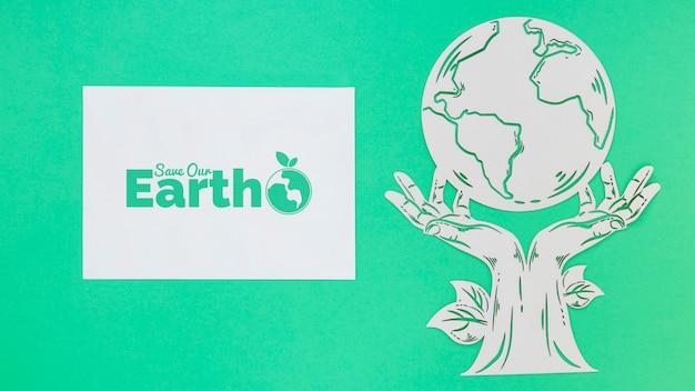 Salvare la terra mock-up Psd Gratuite