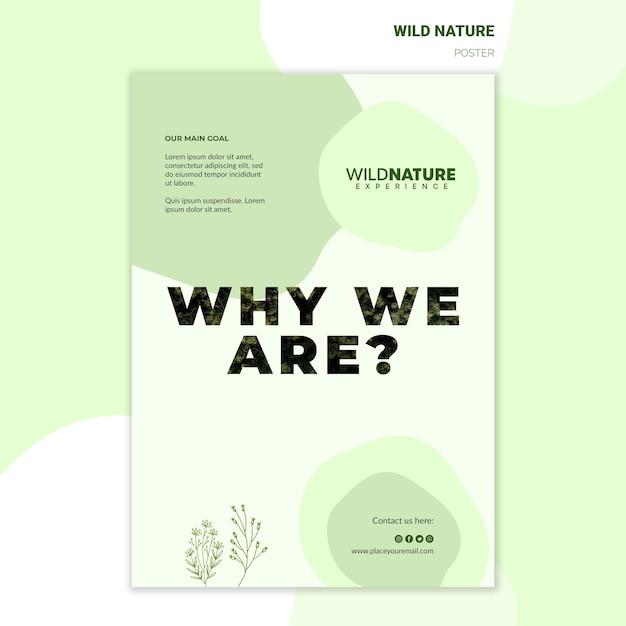 Salvare il modello di poster di natura selvaggia delle foreste Psd Gratuite