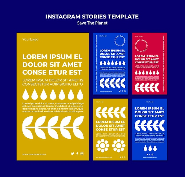 Save the planet instagram stories template Premium Psd