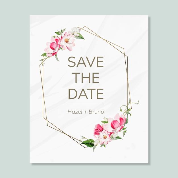 결혼식 청첩장 모형 카드 저장 무료 PSD 파일