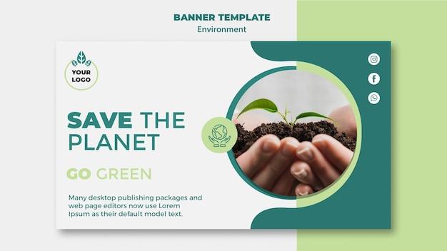Сохранить планету макет концепции Бесплатные Psd