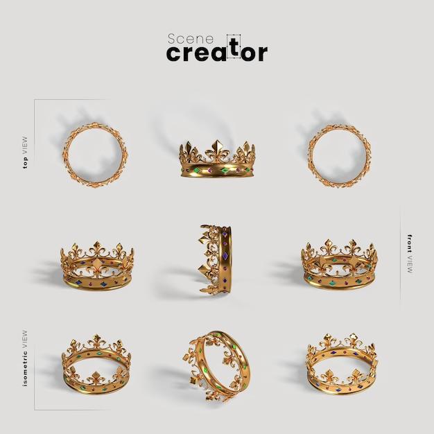 Сцена создателя карнавальной золотой короны Бесплатные Psd