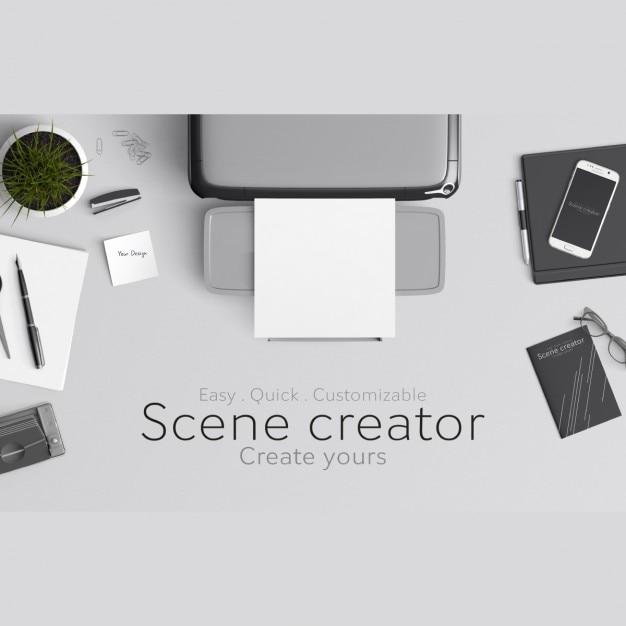 Scene Creator Mock Up Psd File Free Download