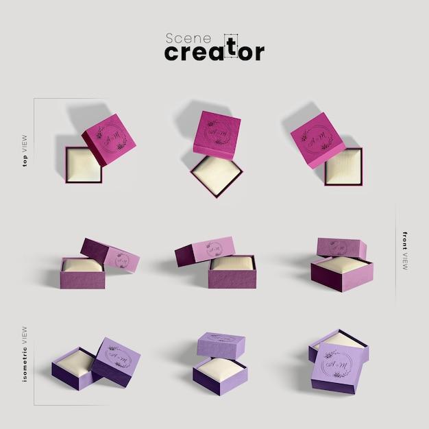 Scene creator with gift boxes Premium Psd