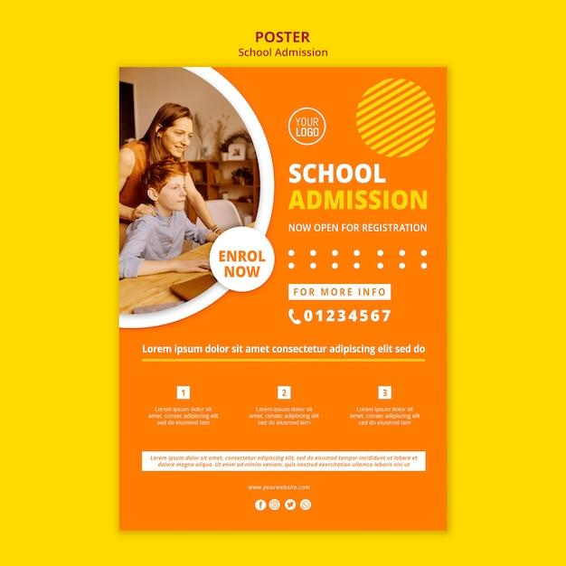 Шаблон плаката для поступления в школу Бесплатные Psd