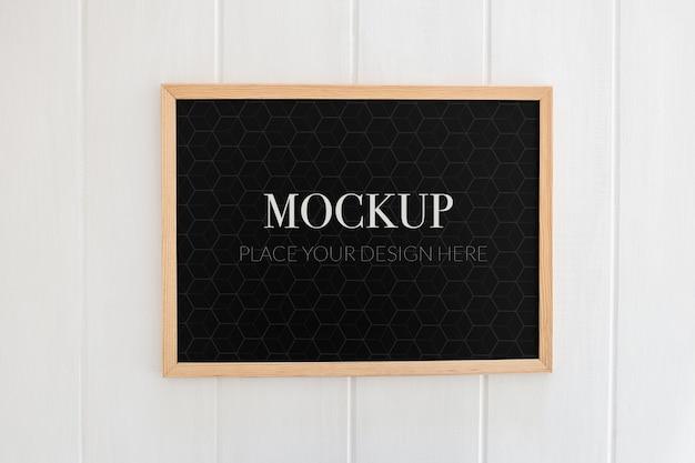 School blackboard mockup Free Psd