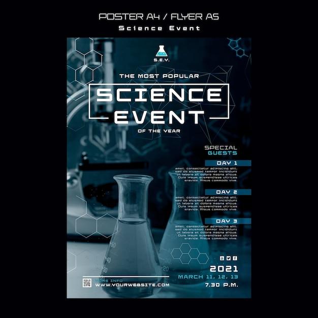 Шаблон плаката научного мероприятия Бесплатные Psd