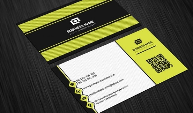 Scratch business card template Free Psd