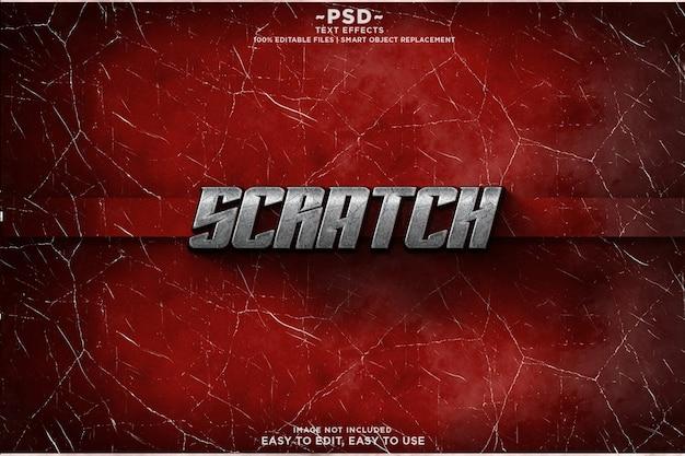 Scratch cracked cool  text effect template premium psd Premium Psd