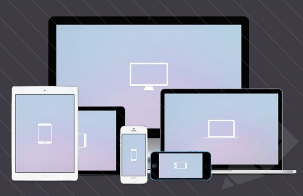 Screen mockups for responsive designs Free Psd
