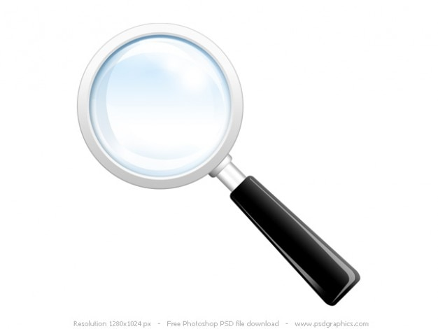 Search Icon, Psd Magnifying Glass PSD File
