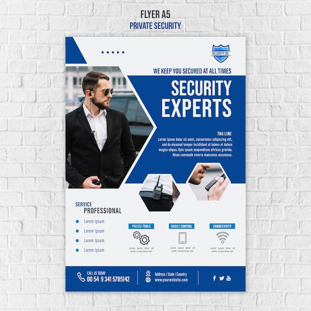 Modello di poster di servizi di sicurezza Psd Gratuite