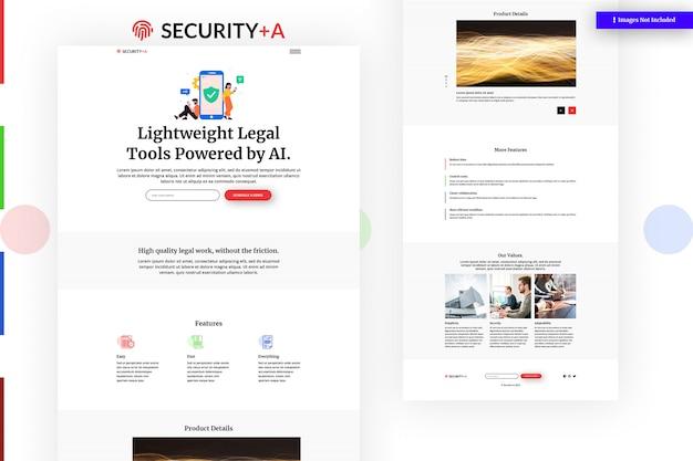 Security website template Premium Psd