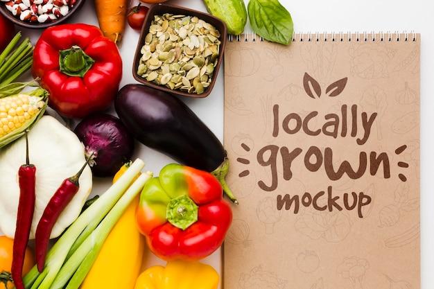 Макет семян и местных овощей Бесплатные Psd