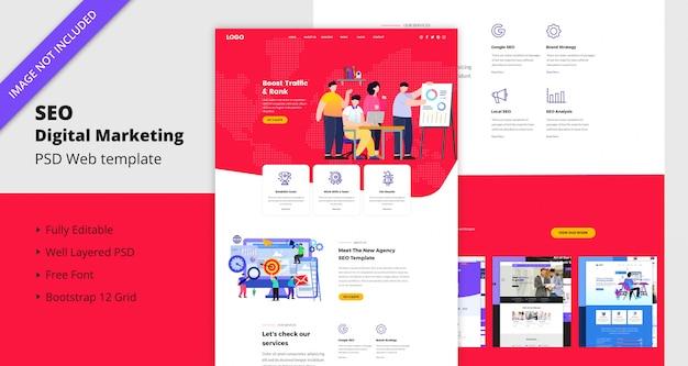 Seo цифровой маркетинг шаблон сайта Premium Psd