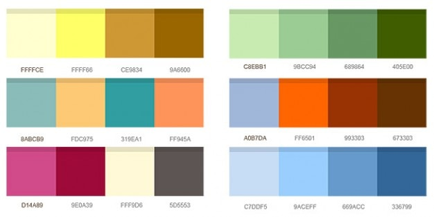 Set Of Color Combinations Psd File Free Download