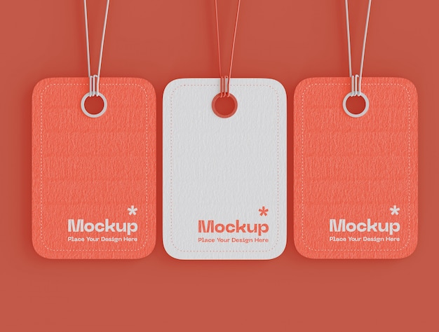 Set of label price tags mockup Free Psd
