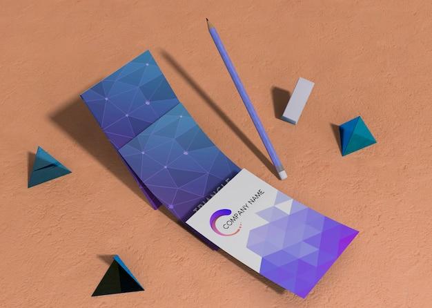 Набор бизнес фирменного стиля макет рекламы геометрических форм Бесплатные Psd