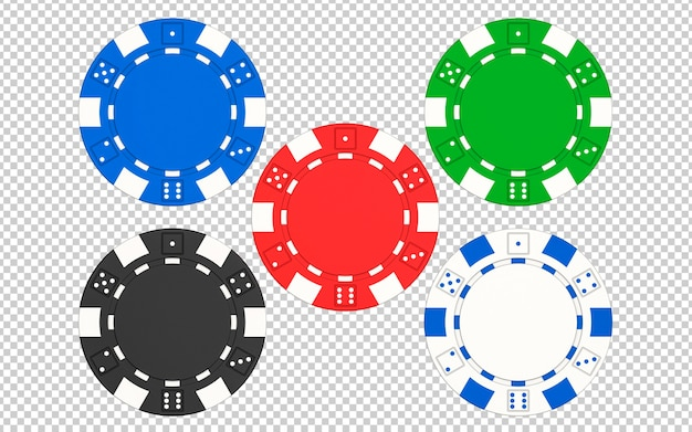 Набор фишек для покера казино Premium Psd