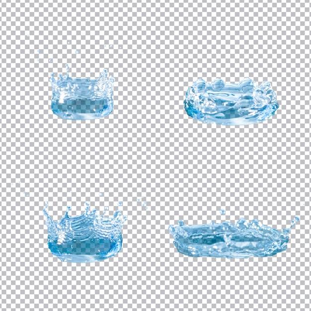 4 물 밝아진 세트 무료 PSD 파일