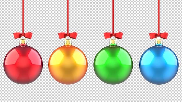 Набор разноцветных елочных игрушек-шаров Premium Psd