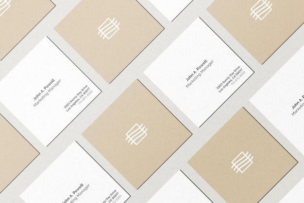 Набор макетов квадратных карт Бесплатные Psd